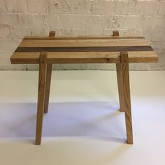 Handcrafted Solid Mixed Species Hardwood Occasional Table. Made from Walnut, Chestnut and oak.