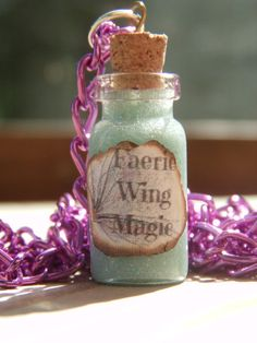Faerie Wing Magic Bottle Charm Necklace от KawaiiVenomProducts