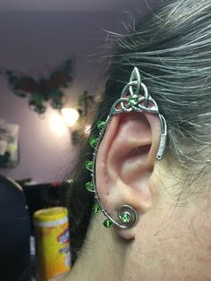 Elvishly pointed celtic ear cuffs no piercing needed. Pointed elf ears or fairy ears.