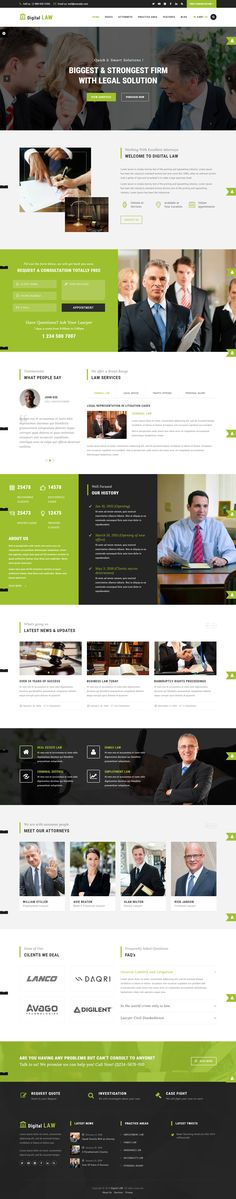 Agency WordPress Themes from ThemeForest Beautiful Website Design, Website Design Inspiration, Landing Page Examples, Web Design Trends, Design Web, Premium Wordpress Themes, Web Wordpress, Web Themes, Web Layout