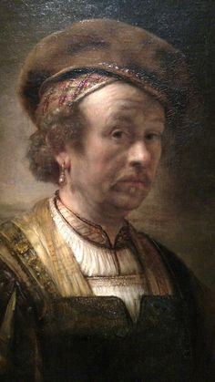 Rembrandt Workshop - Portrait of Rembrandt - 1650 - Dutch DETAIL