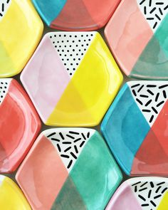 Color block ring dishes by Quiet Clementine