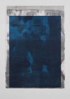 Untitled, Monotype - Plexiglas højprint på rispapir, 2015, 140 x 100 cm.  Jon Erik Nyholm