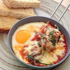 Egg chorizo.