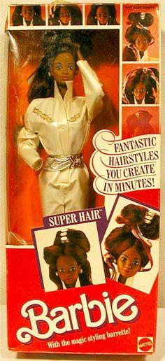 1986 African-American Super Hair Barbie doll-Dee Dee face mold.