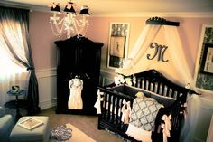 Love the canopy above the Crib! So cute