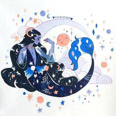 day 16 of ! sunflower goddess~🌻🌻🌻copic and ink Kawaii Drawings, Cute Drawings, Character Art, Character Design, Cute Art Styles, Mermaid Art, Kawaii Art, Copics, Pretty Art