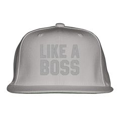 Like A Boss Gangster Attitude Funny Hipster Embroidered Snapback Hat