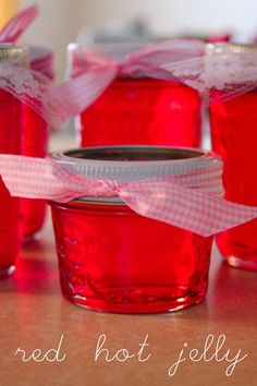 red hot jelly - made with red hot cinnamons - interesting..?