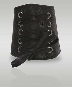 Adel Leather Lace Up Cuff