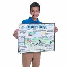 A fun and engaging way for children to learn about habitats, these posters allow each student to select a specific habitat, whether it be grassland or tundra, . Elephant Habitat, Savanna Animals, Ocean Habitat, Habitat For Humanity, Research Projects, Life Science, Anchor Charts, Colorful Pictures, Savannah Chat