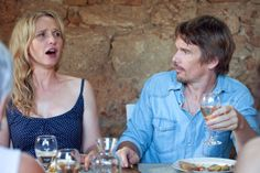 See Julie Delpy and Ethan Hawke as Jesse and Celine in Before Midnight, in theaters May 90s Movies, Cinema Movies, Film Movie, Julie Delpy, Oscar Pictures, Before Trilogy, Oscar Photo, Greek Tragedy, Ethan Hawke