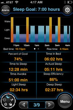 The MotionX Sleep App tracks your sleep quality and works as an all-day pedometer, walking workout log, and can give you inactivity alerts.