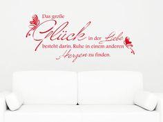 Wandtattoo Spruch über Liebe