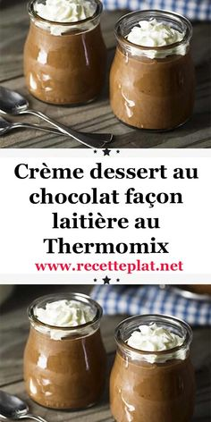 Crèmes dessert au spéculoos - New ideas Creme Dessert Thermomix, Desserts Thermomix, Easy Desserts, Delicious Desserts, Dessert Recipes, Cooking Chef, Chicken Recipes, Food And Drink, Danette