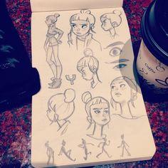 Anna Cattish ☕️ #sketching #yuki