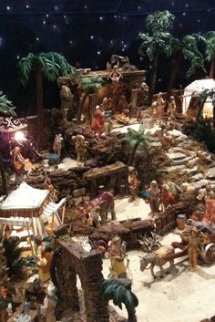IMG_1507   KimInMD   Flickr Christmas Cave, Christmas Crib Ideas, Christmas Garden, Christmas Holidays, Christmas Crafts, Christmas Decorations, Homemade Christmas, Christmas Village Display, Christmas Nativity Scene