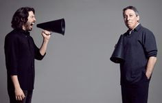 Up close and personal with Canada's Kings of Comedy, father and son Ivan and Jason Reitman. Photographed by Bryan Adams