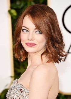 how to style short hairstyles for round faces - Red Wavy Bob Hairstyle