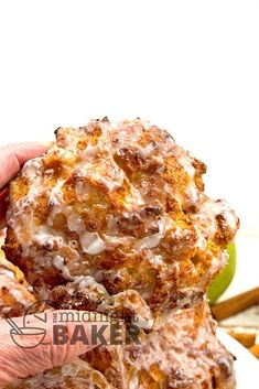 Air Fryer Apple Fritters - The Midnight Baker Air Fryer Recipes Dessert, Air Fryer Recipes Appetizers, Air Fryer Recipes Vegetarian, Air Fryer Oven Recipes, Air Frier Recipes, Cooking Recipes, Baked Apple Fritters, Bbq Desserts