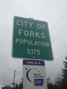 Forks Washington. cute little town, beautiful area.
