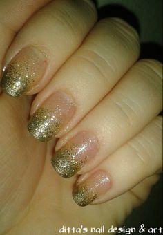 Gold and silver gradient glitter