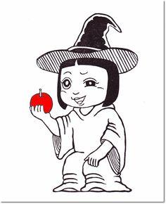 白雪姫 魔女サキ Snow White and the Seven Dwarfs Saki as The Evil Queen 2014 11×6cm