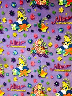 DISNEY Alice Wonderland Cotton Fabric by Springs Creative! [Choose Your Cut Size]