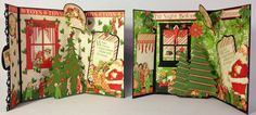Graphic 45 Twas the Night Before Christmas envelope pop up 3D cards by Anne Rostad