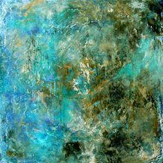 turquoise abstract, $375: joie de vivre.