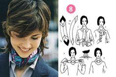 Tendance imprimé foulard : Le Carré Hermès ou 16 façons de porter son foulard de…
