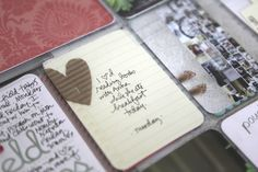 simple journaling card. I love the idea of this simple journaling