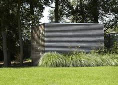 minimaliste abri de jardin du bois gris