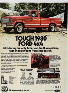 1980 Ford Truck Print Ad #advertisement #ford #truck #vintage #throwback #print #retro #drivedana #nyc