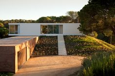 The holiday house designed by Pedro Reis is located in Melides, on the southern Alentejo Coast, Grândola, Portugal. Designed by Pedro Reis, the client's wi Minimalist House Design, Minimalist Architecture, Modern House Design, Contemporary Architecture, Amazing Architecture, Architecture Design, Contemporary Style, Minimal Home, Modern Exterior