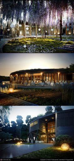 Restaurant in Bordeaux by Pawel Podwojewski