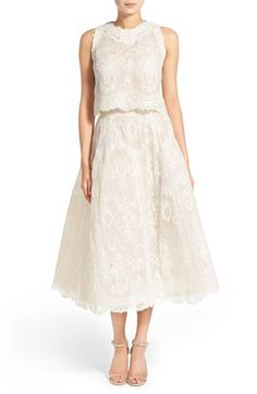 Ready to Wed BLISS Monique Lhuillier 2-Pc. Embroidered Lace Dress available at #Nordstrom
