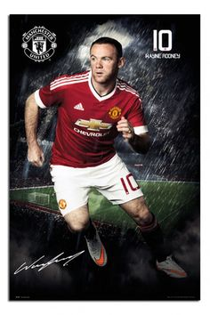 Manchester United Wayne Rooney 2015 / 16 Poster   iPosters