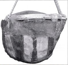 good article on viking age bags. The one on the picture is a sami bag of cowhide.