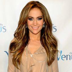 Jennifer Lopez. Hair and make up goal of 2012