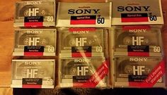 SONY HF60 Normal Bias Cassette Tapes 7 ct. NOS