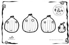 Shallots Coloring Page – Sarah & Duck Coloring Pages for Kids | Sprout