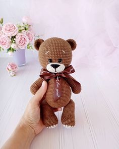 Bear Toy, Teddy Bear, Amigurumi Patterns, Crochet Patterns, Bears, Statue, Knitting, Toys, Animals