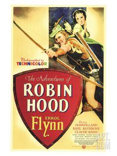 The Adventures of Robin Hood, 1938 Giclee Print at Art.com