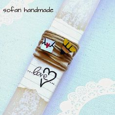 ! ♥ SofaN handmade: Πασχαλινές λαμπάδες 2015 - νέα σχέδια!