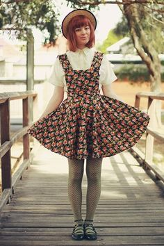 Pinafore and Zigzag Legs