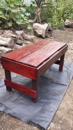 Reclaimed wood. A stain wood table. Mine. Image # 3.