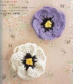 Knitting And Beading Wedding Bridal Accessories and Free pattern: How to Crochet a Flower