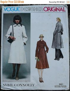 1fa9dad4ed 35%FallSale Vogue Designer Original Sybil by EleanorMeriwether Vintage Coat