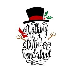 christmas design Walking in a winter wonderland snowman christmas Des. - christmas design Walking in a winter wonderland snowman christmas Design Monogram Machin - Christmas Vinyl, Christmas Design, Christmas Snowman, Christmas Projects, Cute Christmas Sayings, Christmas Labels, Winter Sayings, Christmas Ideas, Christmas Ornaments